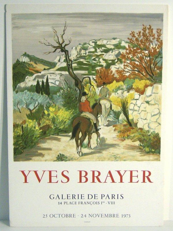 1003: YVES BRAYER POSTER PRINT (French 1907-1990)