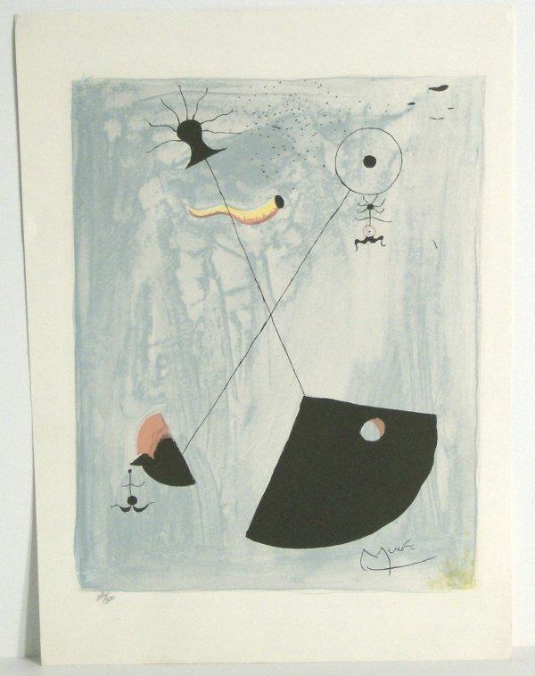 1005: JOAN MIRO LITHOGRAPH (Span 1893-1983)