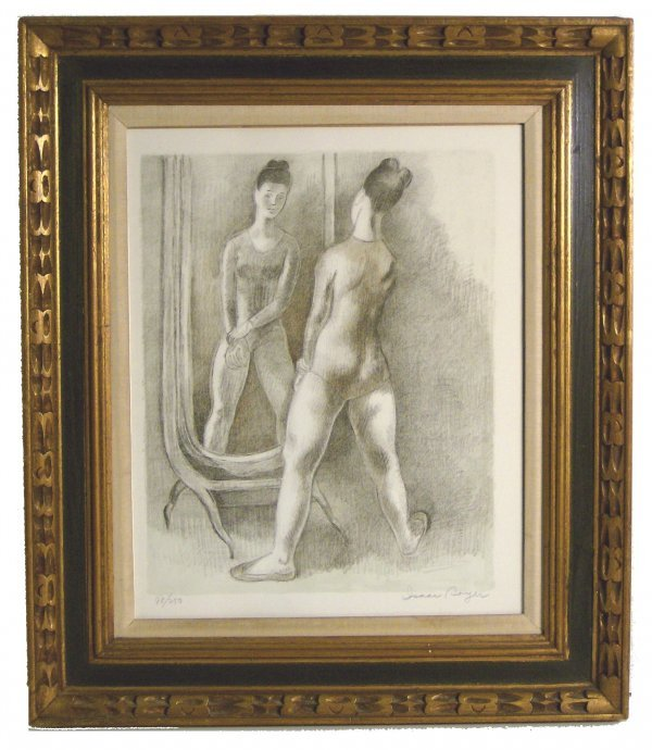 1006: ISSAC SOYER LITHOGRAPH (Amer 1902-1981)