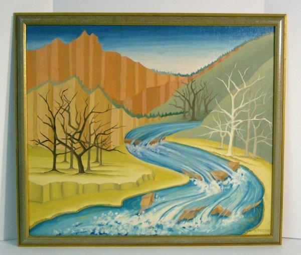 1008: DOROTHY K. PRESTON OIL/CANVAS (1917-1993)