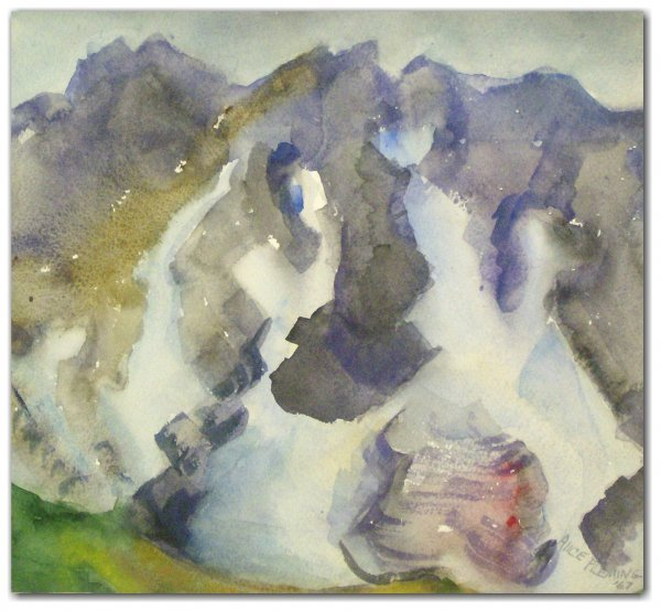 1010: ALICE FLEMING WATERCOLOR (Amer 20th Cent)