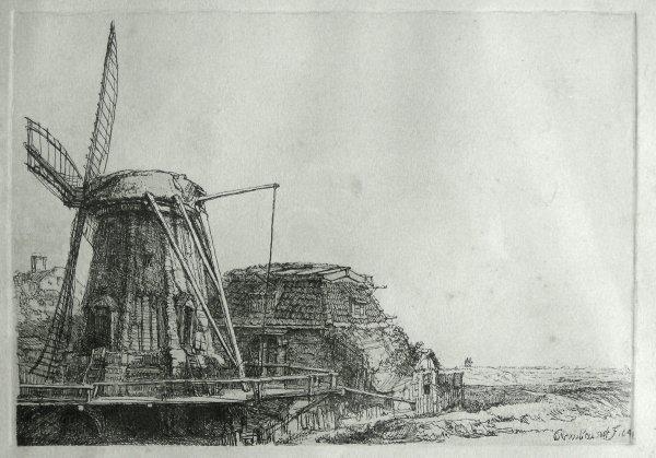 1143: REMBRANDT ETCHING (Dutch 1606-1669)