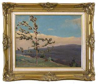 43: GUSTAVE CIMIOTTI - OIL ON CANVAS (American 1875-196