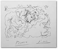 160: PABLO PICASSO SIGNED LITHOGRAPH (1881-1973)