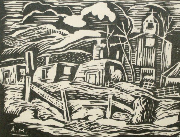 1002: ALFRED MORANG WOODBLOCK (1901-1958)