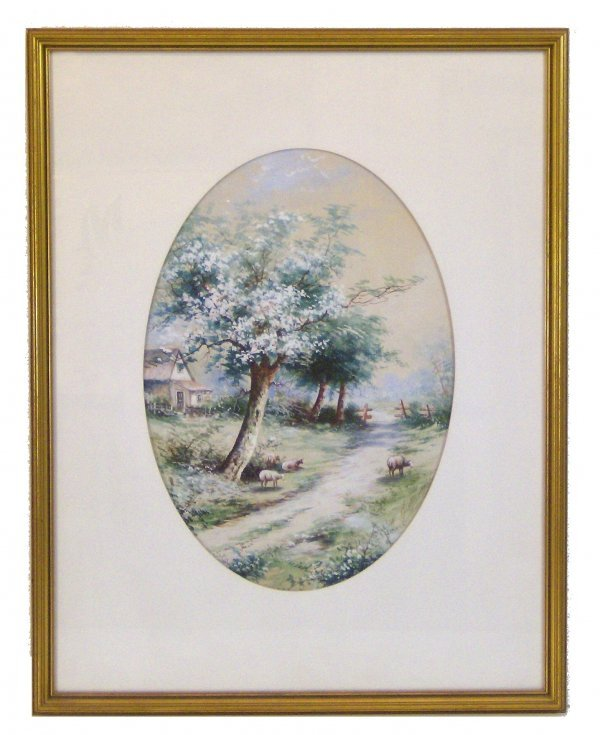 1010: GEORGE BEARDSLEY - OIL (Amer 1867-1938)