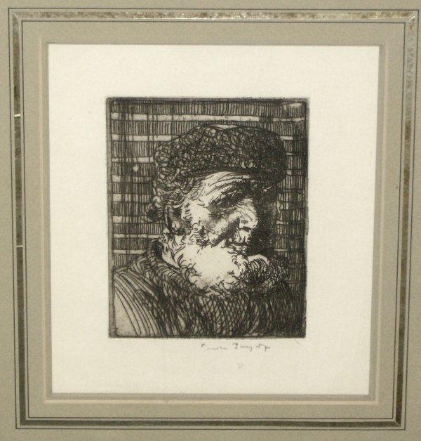 1021: FRANK BRANGWYN ETCHING (1867-1956)