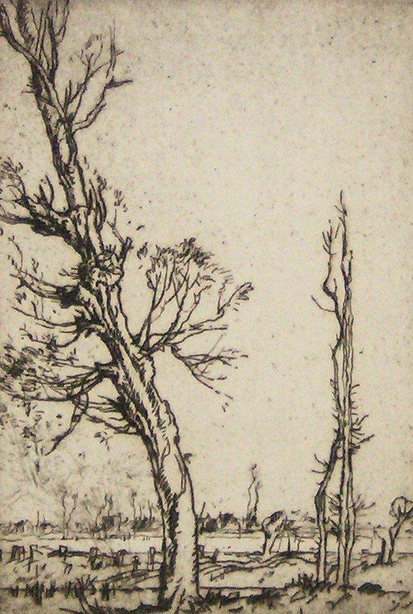 1022: FRANK BRANGWYN ETCHING (1867-1956)