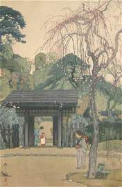 1218: HIROSHI YOSHIDA WOODBLOCK PRINT (1876-1950)