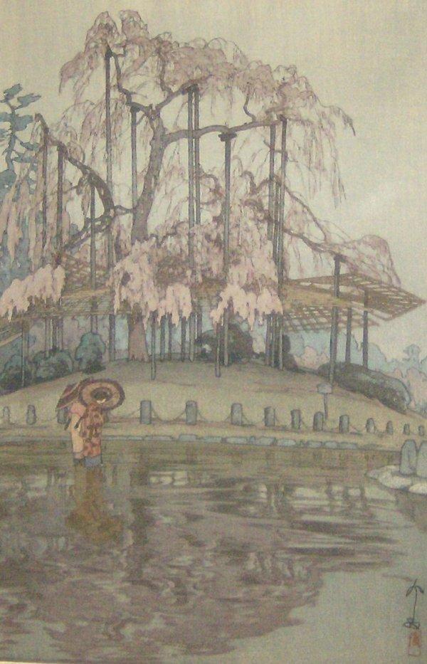 1219: HIROSHI YOSHIDA WOODBLOCK PRINT (1876-1950)