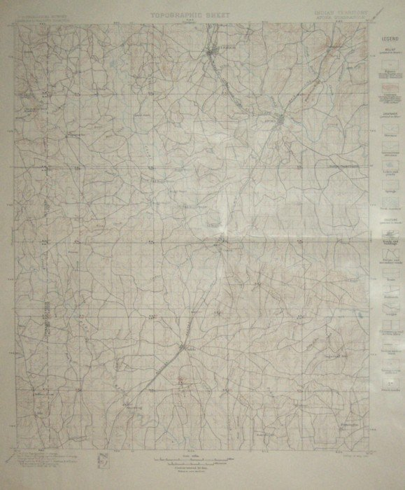 4: INDIAN TERRITORY MAP 1901 - NOWATA QUADRANGLE