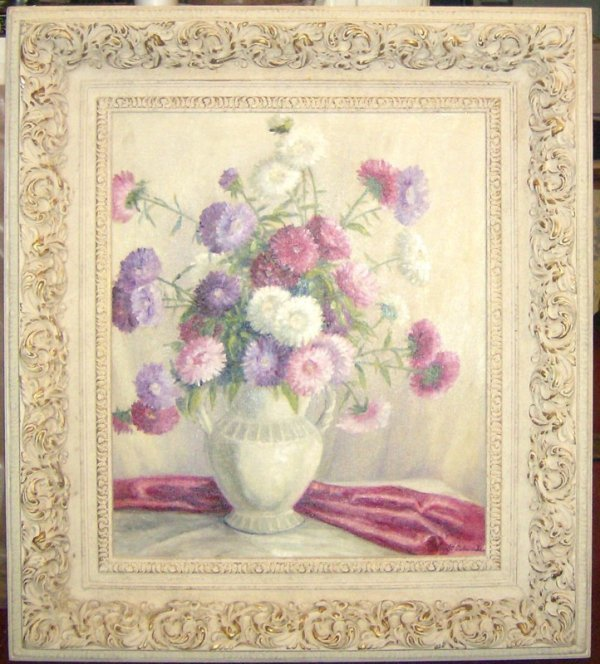 11: ROBERT EDWARDS FLORAL OIL (Amer 20th Cent)