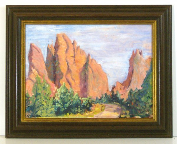 15: WILLIAM H GOETZ-OIL-GARDEN OF THE GODS (20th Cent)