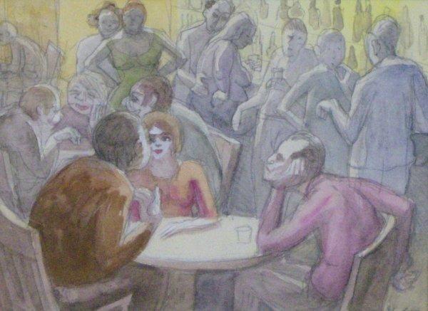 18: ELI LEVIN WATERCOLOR (Amer 1938-?)