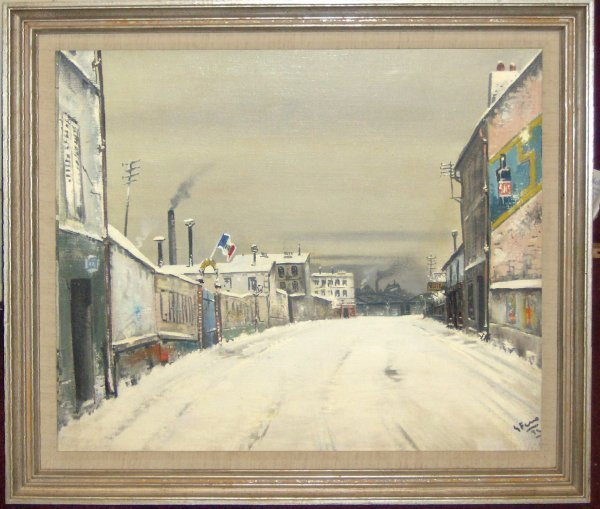 19: UTRILLO STYLE-OIL/CANVAS (European 20th Cent)