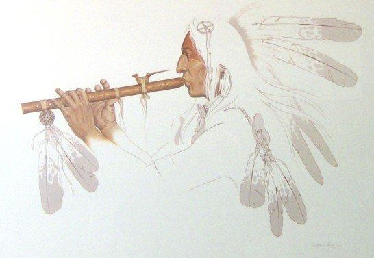 294: ENOC KELLEY HANEY-INDIAN W/ FLUTE