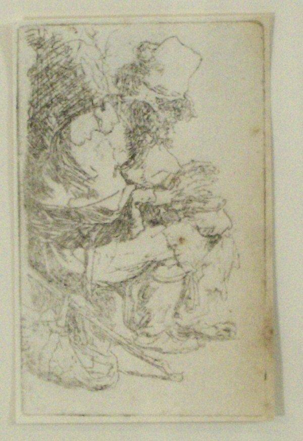 299: REMBRANDT VAN RIJN ETCHING  (Dutch 1606-1669)