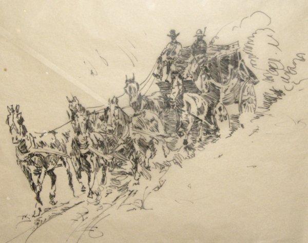 303: EDWARD BOREIN-INK-STAGECOACH (1872-1945)