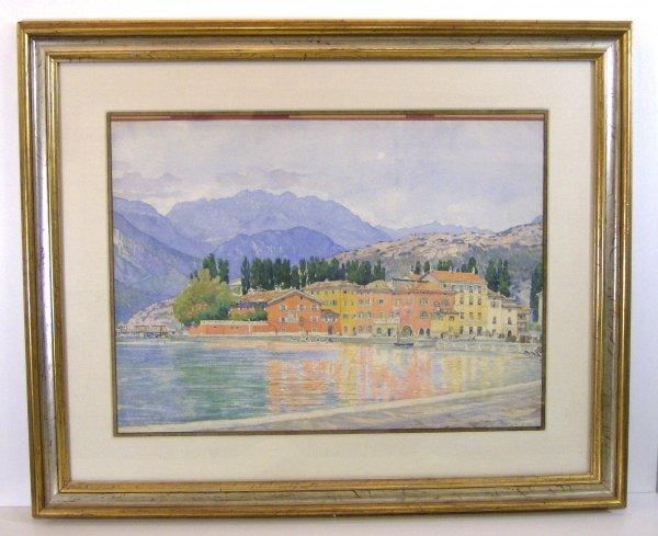 304: CARL LINK WATERCOLOR - ZERBOLE (Amer.1887-1968)