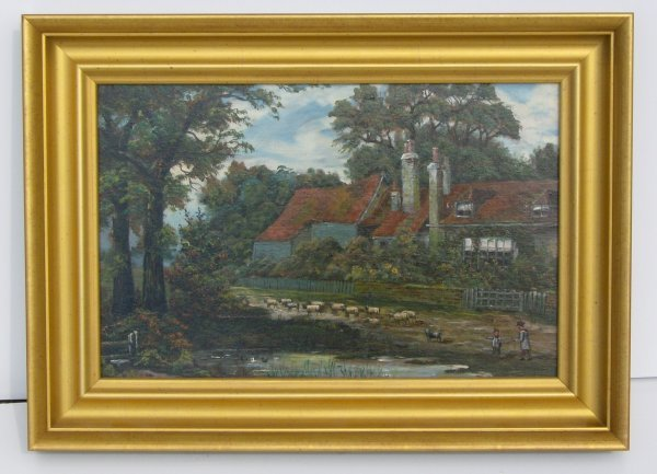 313: ANTIQUE OIL/PANEL (Euro Late 19th Cent)