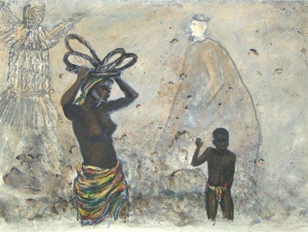 316: EVA STROM - CARIBBEAN FESTIVAL - MIXED MEDIA
