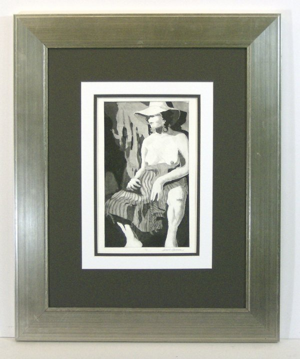 12: SUSIE HARRISON-FEMALE NUDE-ETCHING (20th Cent)