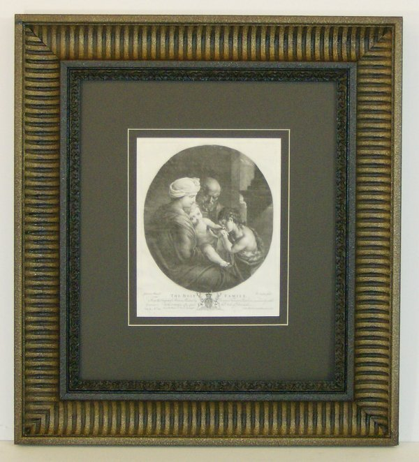 14: GIOVANNI GUERCINO-HOLY FAMILY ETCHING (Italy 1591-1