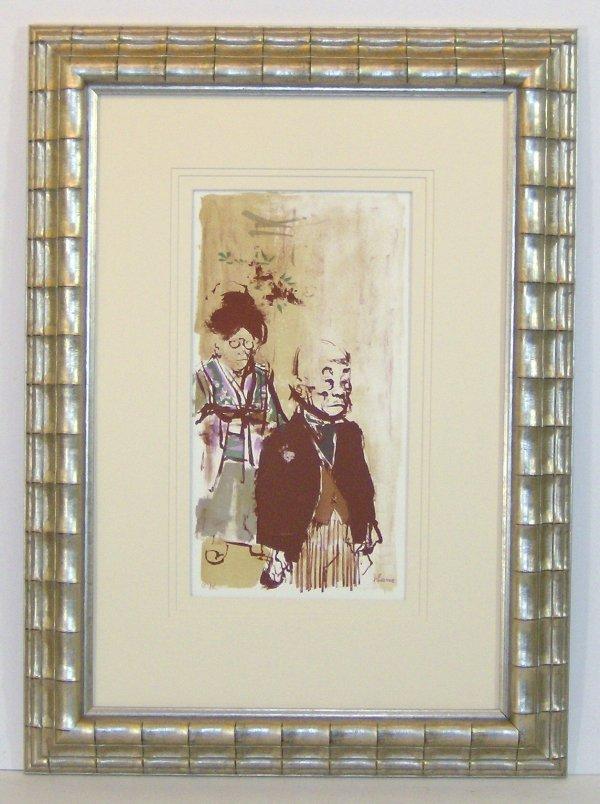 15: JACK LEVINE-LITHOGRAPH-GENTLEMEN (Amer 1915-?)