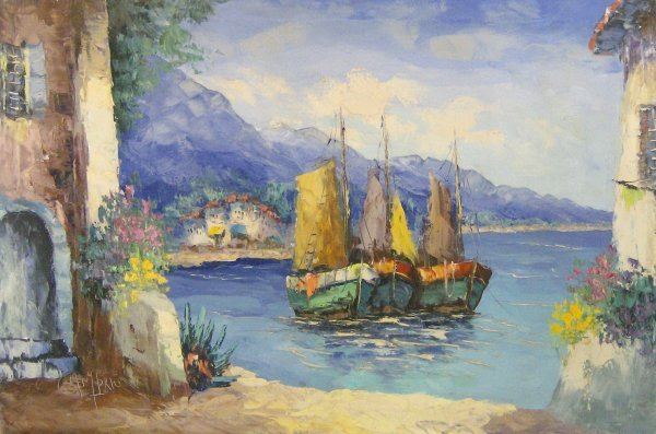 18: CAMPRIO-BAIA DI SISTIANA-OIL/CANVAS (Italy 1895-?)