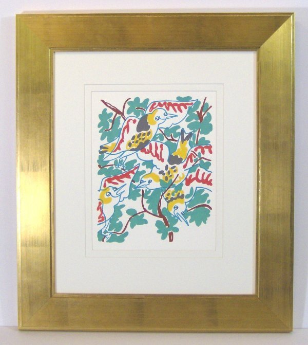 21: CHARLES LAPICQUE-LITHOGRAPH-BIRDS (1898-1988)