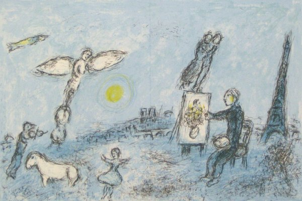 24: MARC CHAGALL-LITHOGRAPH (French 1887-1985)