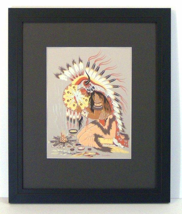 218: WOODY CRUMBO-SILKSCREEN-INDIAN (Amer 20th Cent)
