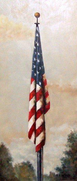 303: US FLAG-OIL/PANEL - GARY SHERMAN