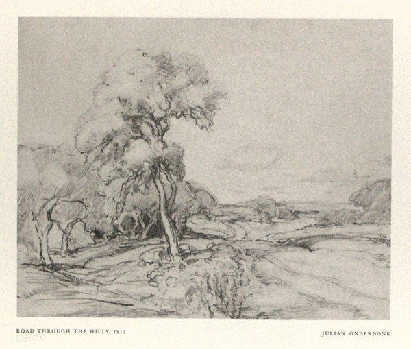 304: JULIAN ONDERDONK - LIMITED ED. OFFSET LITHOGRAPH