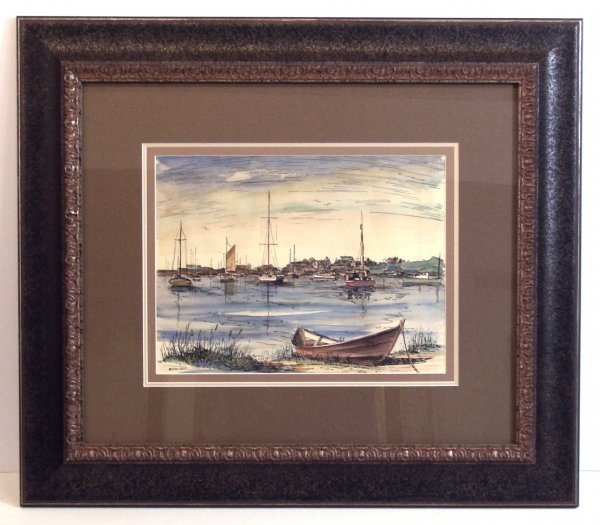 312: WYCHMERE HARBOR-MILTON WELT-WATERCOLOR