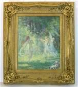 416: LOUIS BERNEKER-NYMPHS-1910 LITHO (1876-1937)