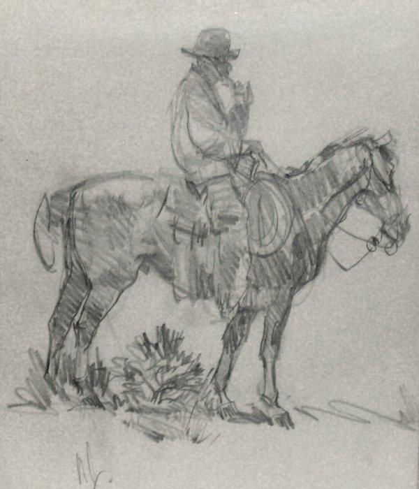 5: NED JACOB-COWBOY-PENCIL (Amer b.1938)