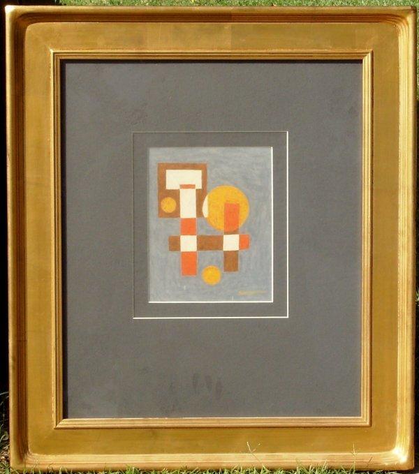 7: EMIL BISTTRAM-ACRYLIC ABSTRACT (1895-1976)