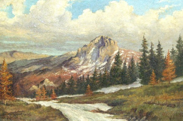 20: ROBERT WOOD STYLE-LANDSCAPE-OIL (Style of)