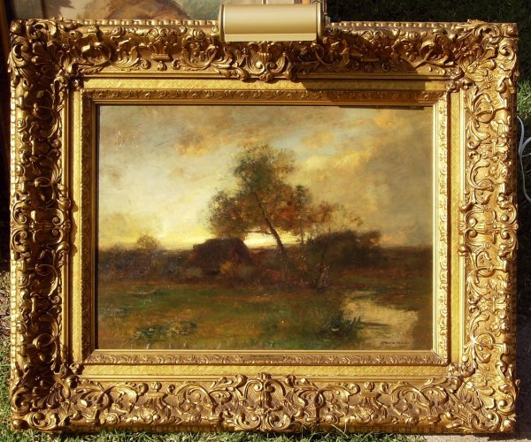 21: J. FRANCES MURPHY-OIL of OLD MILL (Amer 1853-1921)