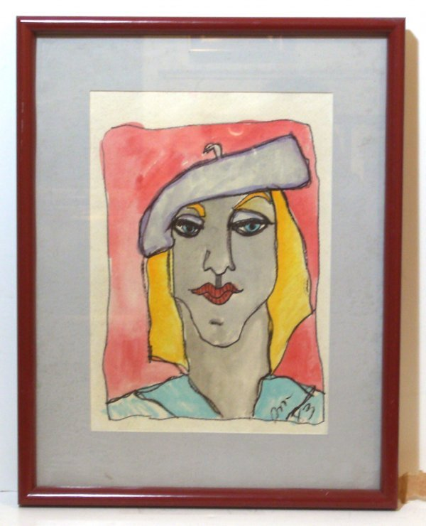 22: KAY ORR-FEMALE PORTRAIT-OKLAHOMA ARTIST