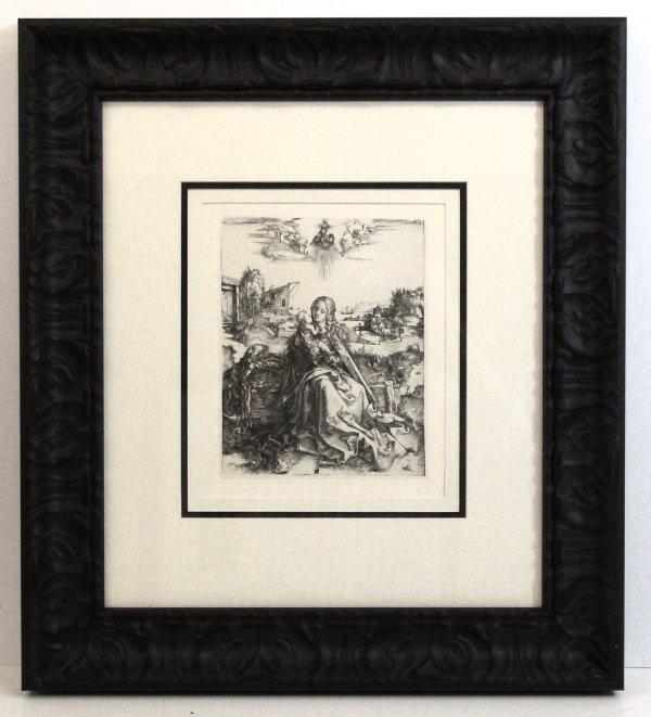 106: DURER-MADONNA & DRAGONFLY-LITHOGRAPH (1471-1528)