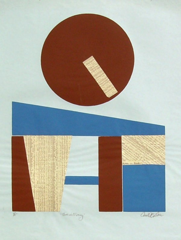 1006: CAROLL COLLIER-NY STOCK EXCHANGE-SERIGRAPH