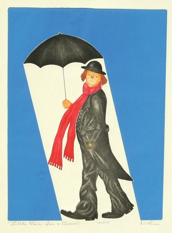 1013: MISNA - LITTLE RAIN FOR A CLOWN -MIXED MEDIA ETCH