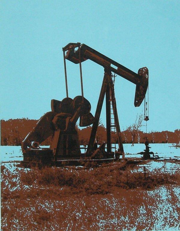 1015: LORENZO SERGH - OIL RIG - SERIGRAPH