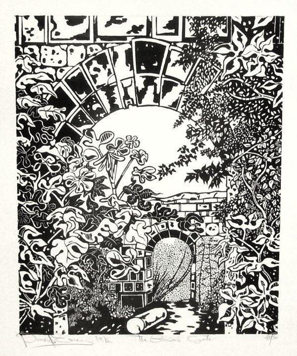 1018: DAVID EVERY - BONIAS GATE - SIGNED BLOCK PRINT