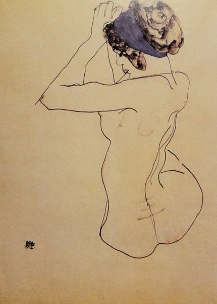 1182: UNKOWN-SEATED NUDE WOMAN-OFFSET LITHO