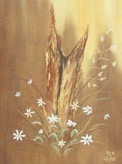 1194: FLOWERS - OIL ON CANVAS - SLC (20TH CENTURY) - 2