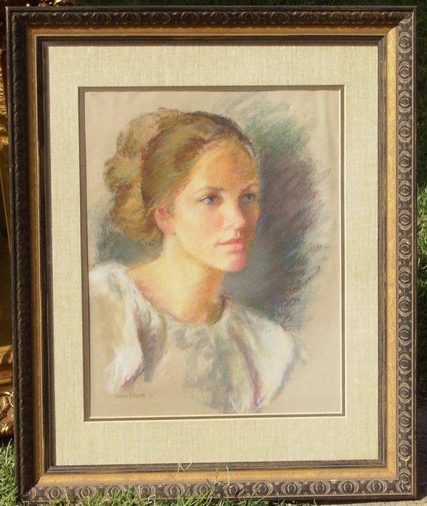 10: Gene Stone-Head of a Girl-Pastel