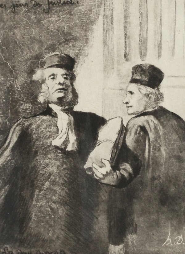 12: Honore Daumier-Two Layers Litho (French 1808-1879